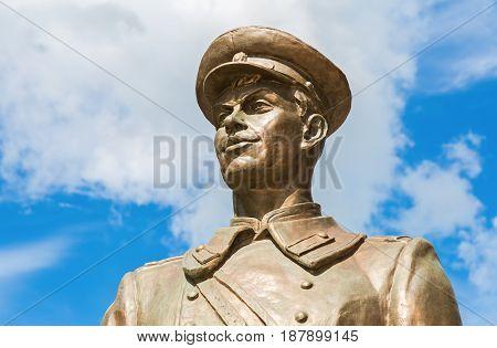 Samara Russia - May 14 2017: Bronze monument