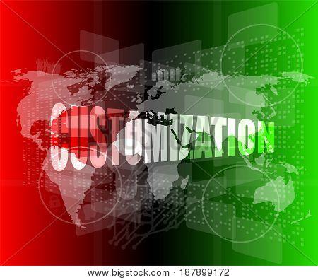 Customization Word On Digital Binary Touch Screen
