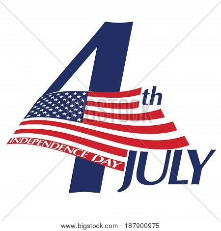 Symbol of July 4 Independence Day. Vector illustration