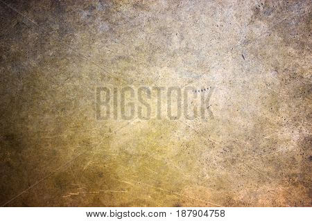 Bronze Texture, Golden Hue Metal Surface As A Background