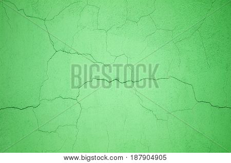 Green Concrete Wall Texture, Painted Cement, Closeup