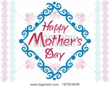 abstract artistic colorful mother day vector illustration