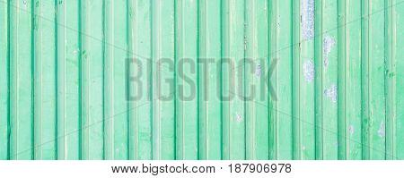 Green Painted Aluminium Wall