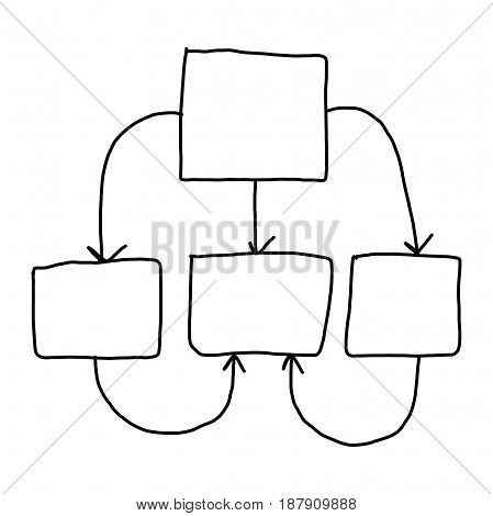 Hand of businessman drawing graphics a symbols geometric shapes graph to input information concept on white background.