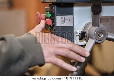 Close Up Of Finger Pressing Off Button