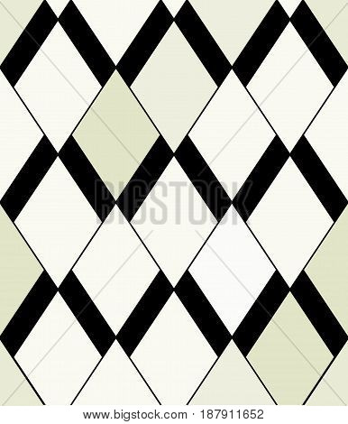 Vector Seamless Pattern. Modern Abstract Geometric Pattern With Rhombuses. Perfect Texture For Fabri