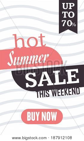 Social Media Summer Sale Banner. Vector Illustrations For Website And Mobile Website Banners, Poster