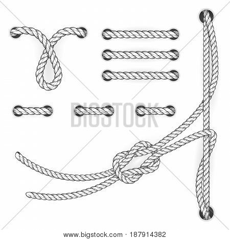 Attested document rope stitchs and loops - file filing suturing