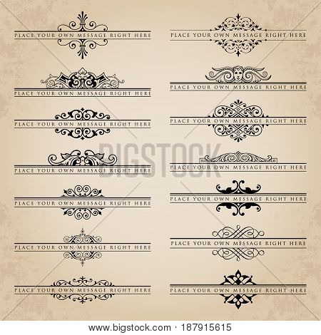 Large collection of ornate headpieces - vector set