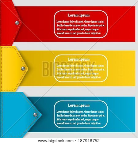 Set of abstract banners to create infographics. Vector illustration