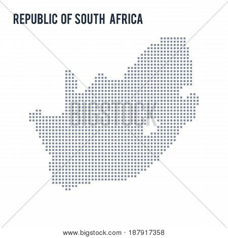 Vector Pixel Map Of Republic Of South Africa Isolated On White Background