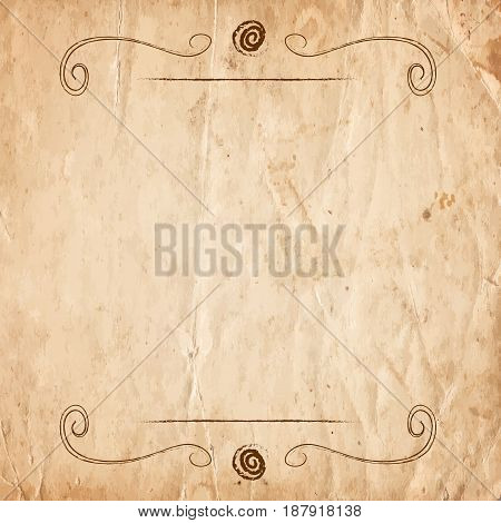 Retro Vintage Border On The Old Paper Background