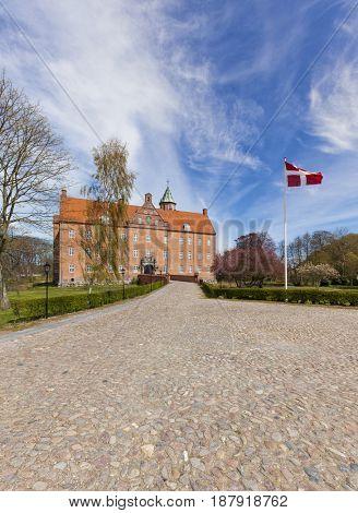 17th century water castle Sostrup, Gjerrild, Denmark