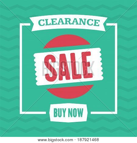 Social Media Clearance Sale Banner. Vector Illustrations For Website And Mobile Website Banners, Pos