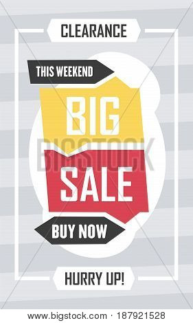 Social Media Big Sale Banner. Vector Illustrations For Website And Mobile Website Banners, Posters,