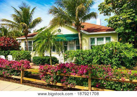 Chalet apartments at the Gasparilla Inn on Palm Street on Gasparilla Island Florida