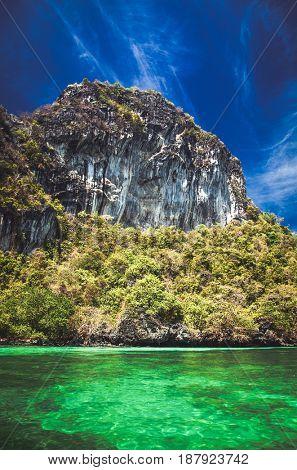 limestone rocks in the sea, Thailand