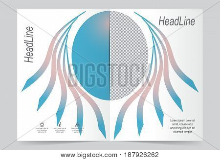 Blue lines Cover template background flyer design. Abstract template for annual business report poster