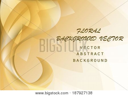 Abstract colorful elegant waves floral pattern print copy space background can be used for  template banner poster brochure leaflet flyer backdrop book cover vector illustration