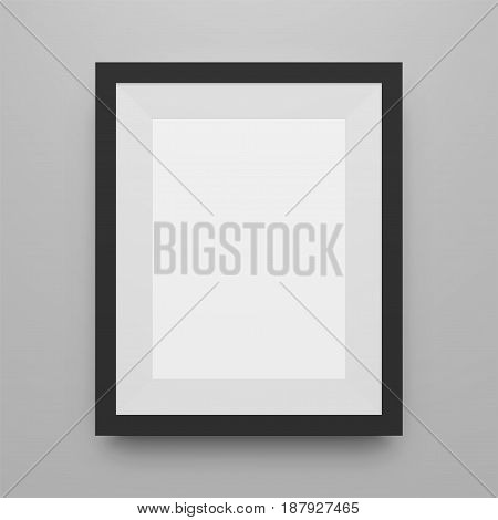 Black blank Picture Frame realistic vector Mockup