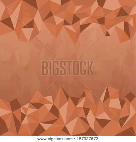 Polygon Earth Tone Background Designed as Dark Brown Texture Theme