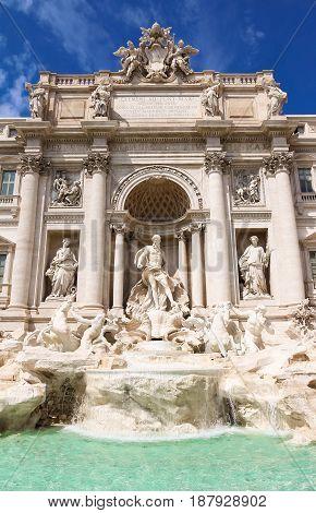 Rome, Italy. The famous de Trevi Fountain