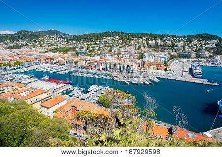Nice harbour, French Riviera a beautiful view