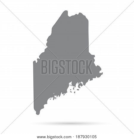 Map of the U.S. state of Maine on a white background
