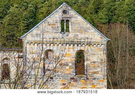 The Monastery ruins in Paulinzella in Thuringia
