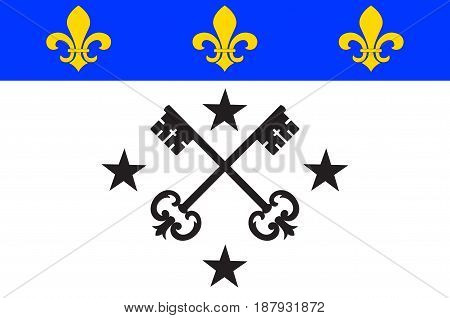 Flag of Lisieux is a commune in the Calvados department in the Normandy region in northwestern France. Vector illustration