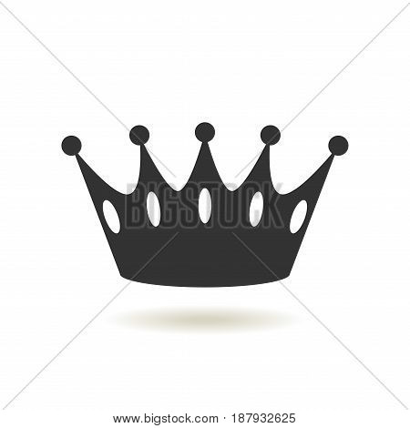 Crown Icon in trendy flat style. Monarchy authority and royal symbols. Monochrome vintage antique icons. Crown symbol for your web site design logo app UI. Vector illustration EPS10