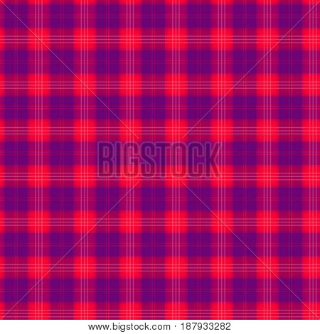 Fabric in red and blue fiber seamless pattern tartan. vector background
