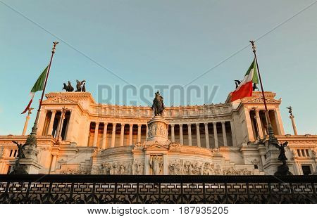 Altar of the Fatherland, Altare della Patria, also known as the National Monument to Victor Emmanuel II, Rome, Italy.