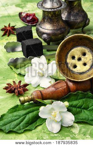 Hookah With Flavor Of Jasmine