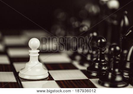 Single Pawn Against Many Enemies