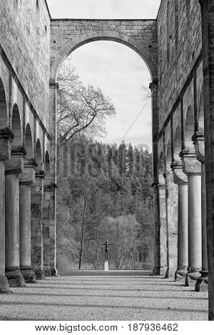 The Monastery ruins in Paulinzella in Thuringia Germany