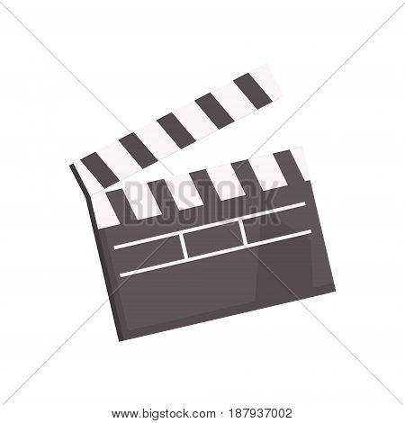 Black open movie clapperboard vector Illustration isolated on a white background