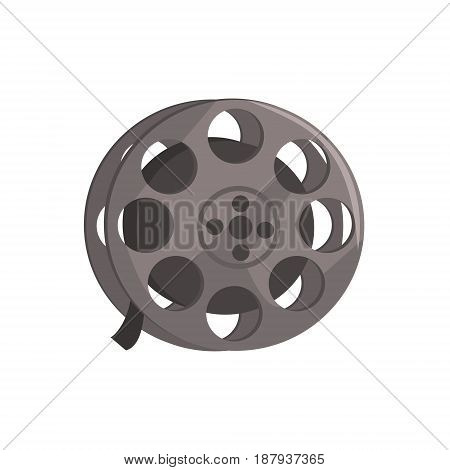Film reel, video tape sign vector Illustration isolated on a white background