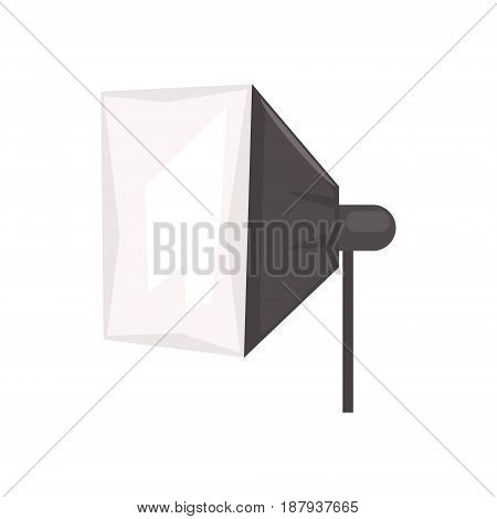 Studio flash with soft box vector Illustration isolated on a white background
