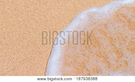 Yellow Sand and Gentle Wave, Right Side, Nikki Beach, Bali -Indonesia.