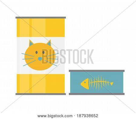 Pet Food Can Template in Modern Flat Style Icon. Material for Design. Vector Illustration EPS10