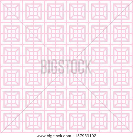 Geometric Pattern, Seamless Square Simple Background Texture Thin Line And Light Pink Color