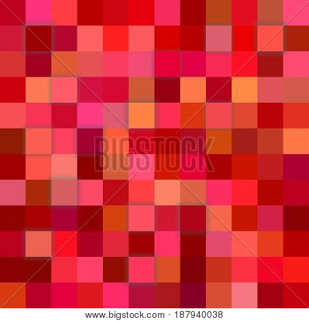 Red abstract 3d cube mosaic background from squares