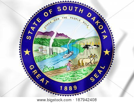 State Seal Of South Dakota, Usa.