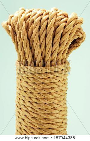 Close Up of a Bundle of Ropes