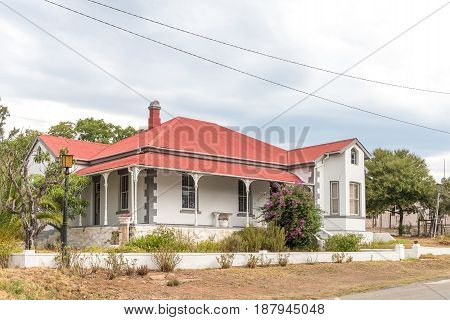 DE RUST SOUTH AFRICA - MARCH 23 2017: An historic old house in De Rust a village in the Western Cape Province of South Africa