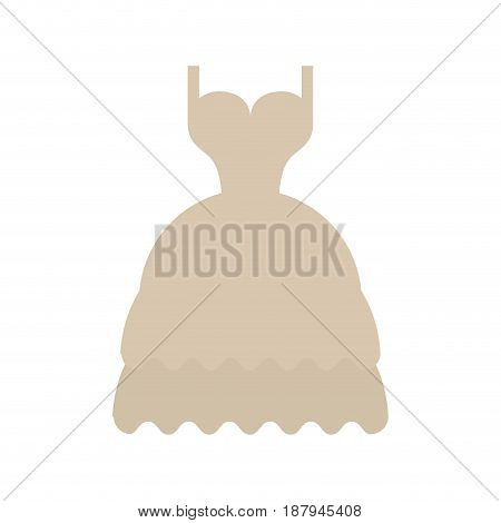 long layered dress with cleavage and straps icon image vector illustration design