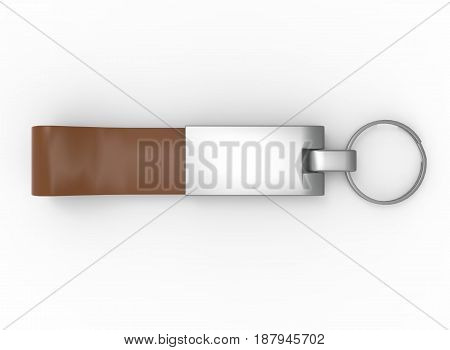 3d illustration of keychain. white background isolated. icon for game web.