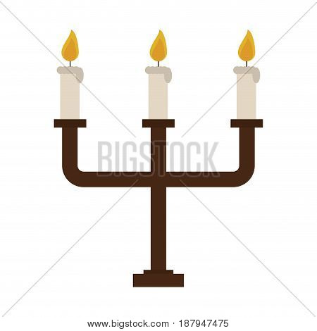 chandelier with lit candles icon image vector illustration design