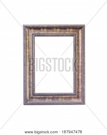Vintage photo frame on a white background.with clipping path.